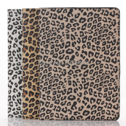 Fashion Leopard Stand Leather Tablets Case Smart Cover Automatic Wake/Sleep Protective Shell Apple iPad Air 2 6 - Sor E-commerce store