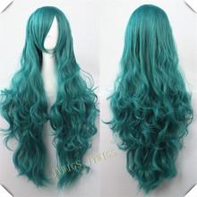 Cosplay Future Mirai Nikki Yuno Gasai Long Curly Wig 32INCH 16Colors(China (Mainland))