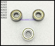 Buy 10pcs/Lot 627ZZ 627 ZZ 7x22x7mm Mini Ball Bearing Miniature Bearing Deep Groove Ball Bearing Carbon Steel for $5.30 in AliExpress store