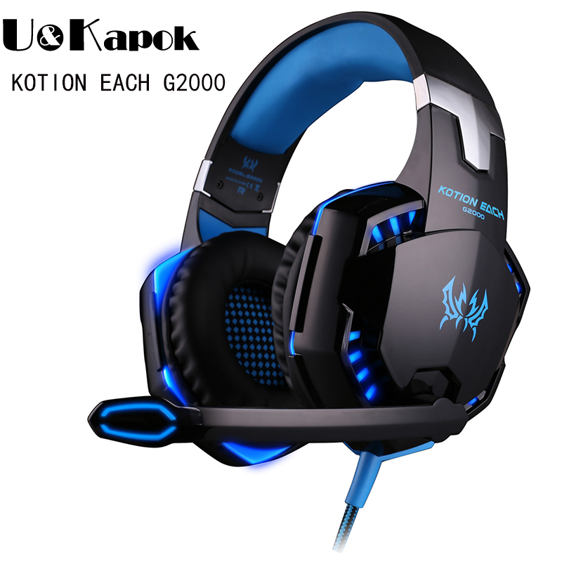 Original EACH G2000 3 5mm Stereo Gaming Headset Earphone Headband Headphone With Mic Stereo Bass Fone
