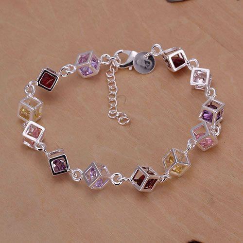 Бесплатная доставка посеребренные браслет ювелирных изделий мода браслет Высокое ...