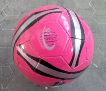 Pink PVC Stocklot SOCCER BALL