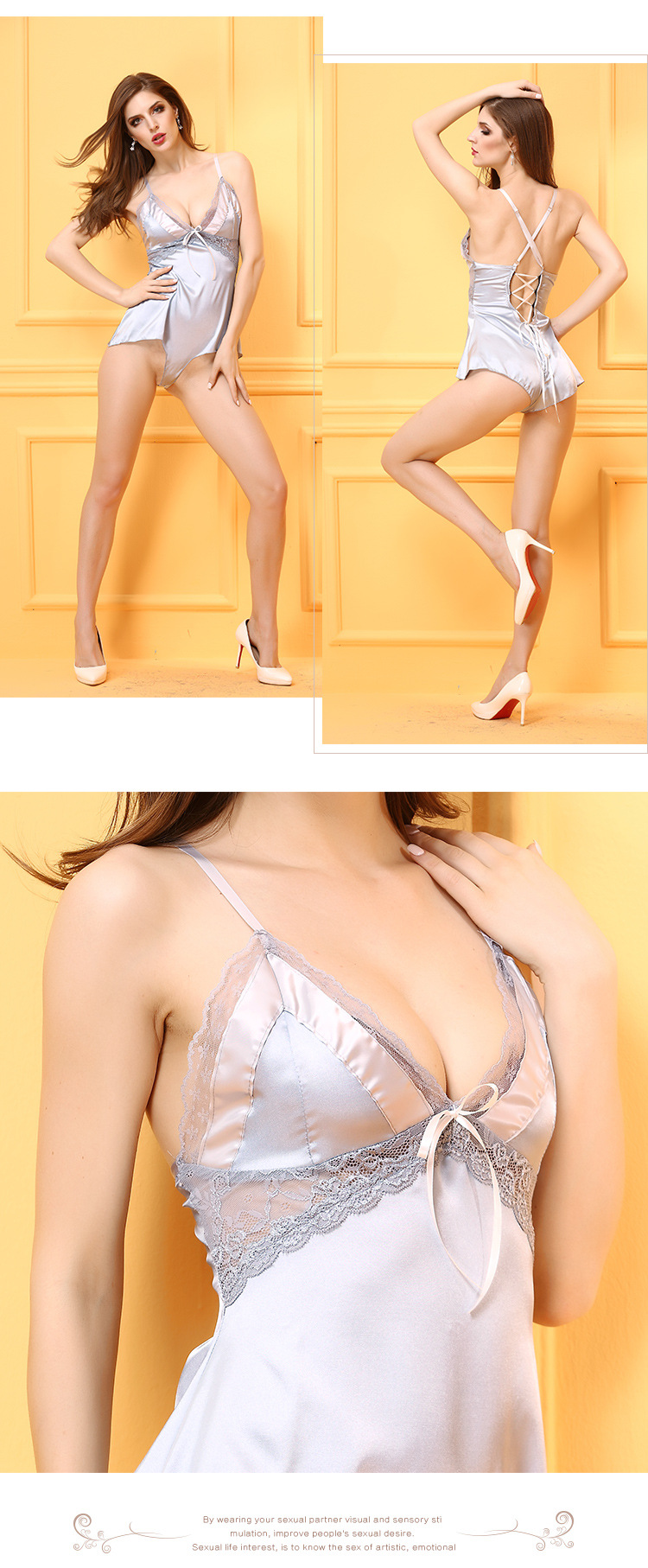 NEW 2017 High quality Sexy Women Bodycon Lingerie Hot Sleepwear Ladies Minidress Intimate Slips Lace slips