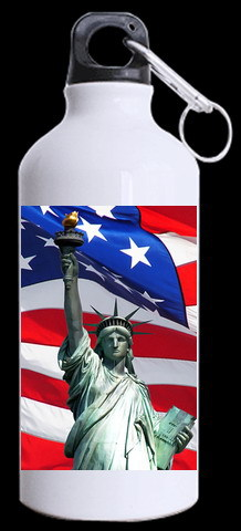 American famous buildings Statue of Liberty pattern design superior Aluminum manufacture sports Bottles stylish perfect Kettle(China (Mainland))