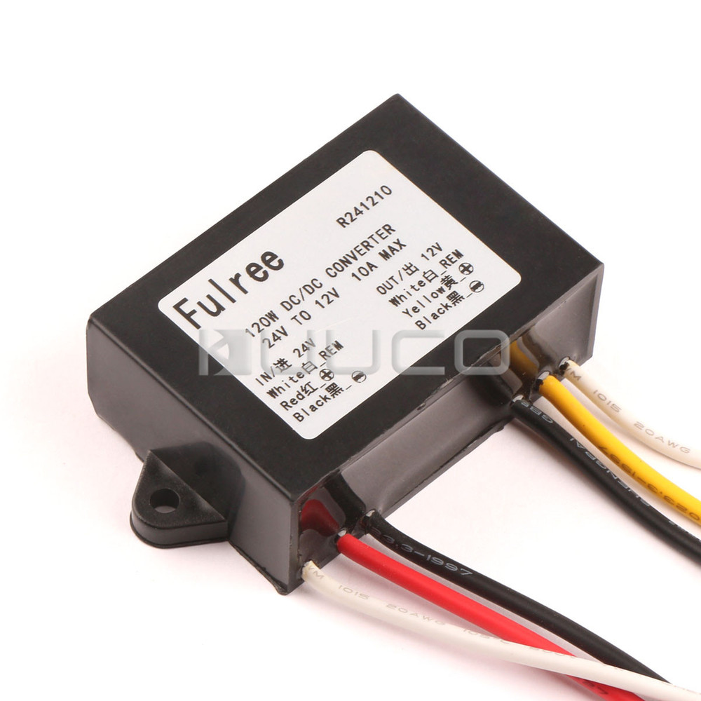 120W Car Power Supply DC 24V(17~35V) to 12V 10A Buck Converter Waterproof Voltage Regulator with memory function <br><br>Aliexpress