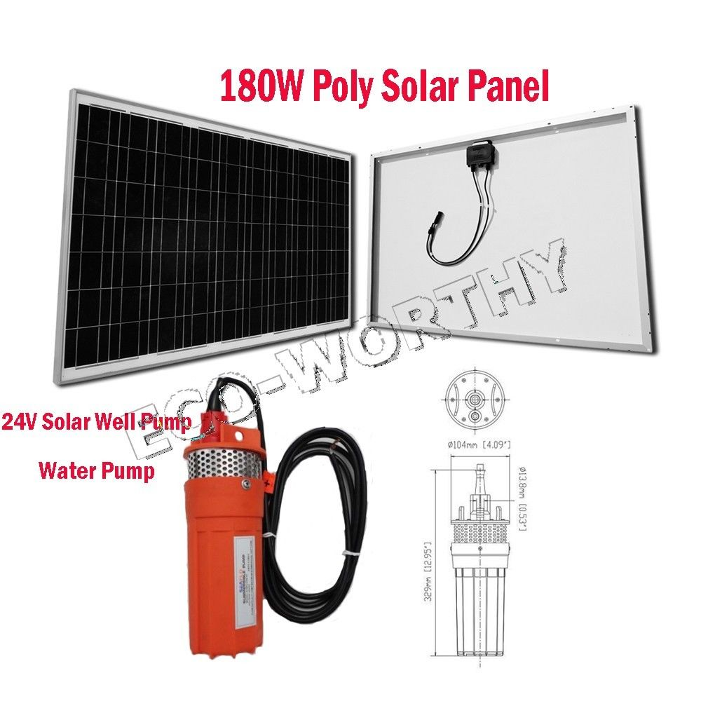24V Solar Water Well Pump System Kit W/ 180W Solar Panel for Farm Irrigation(China (Mainland))