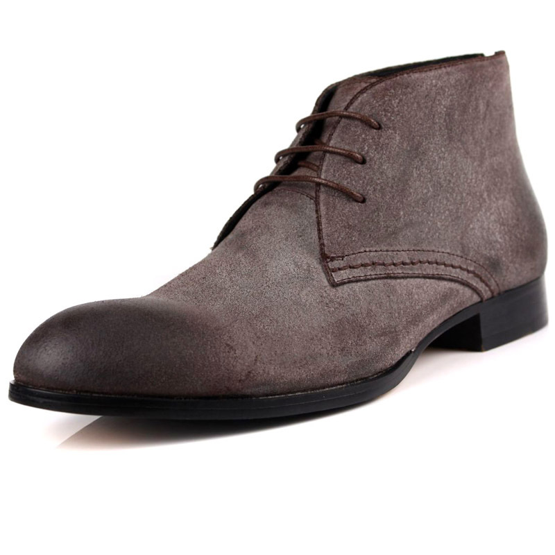 2014 new fashion mens black brown nubuck leather