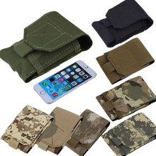 NEW Mobile Phone Bag Outdoor MOLLE Army Camo Camouflage Bag Hook Loop Belt Pouch Holster Cover Case For Multi Phone Model H1E1