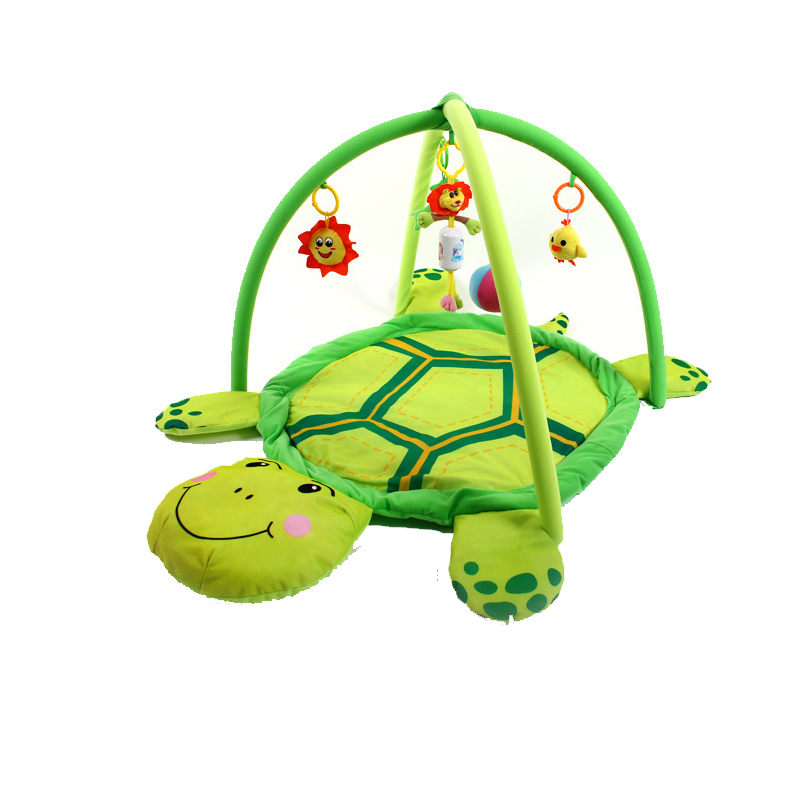 90 * 50cm / small turtle crawling baby soft plush pad with stand-dimensional bee crawling baby game pad green / pink<br><br>Aliexpress