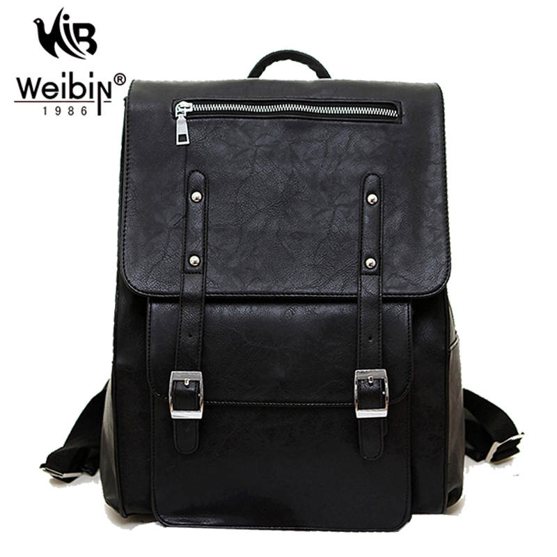ALL OF U High Quality England Vintage Style PU Leather Men Backpacks For College Preppy Style School Backpacks Newest Mochila(China (Mainland))