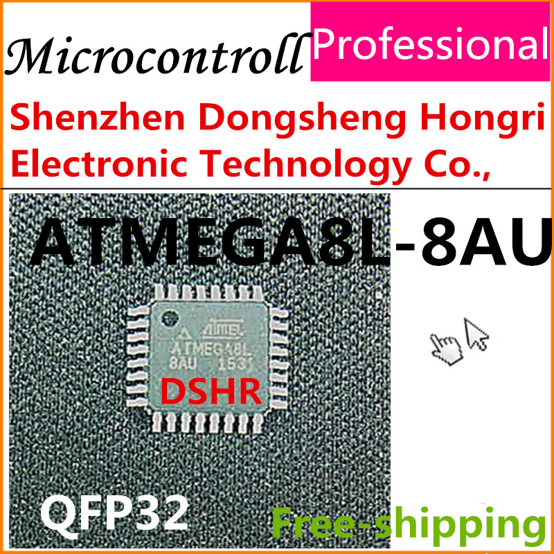 microcontroll atmega8l-8au atmega8 atmega8l QFP32 5PCS new original Atmel sample data inside electronic components(China (Mainland))