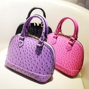 Bags 2013 spring sweet lavender ostrich grain handbag one shoulder cross-body bag women's shaping