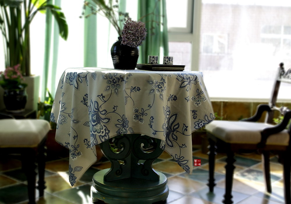 Premium cotton tablecloths coffee table cloth upholstery fabric can be a gentle and delicate as silk linen cotton(China (Mainland))
