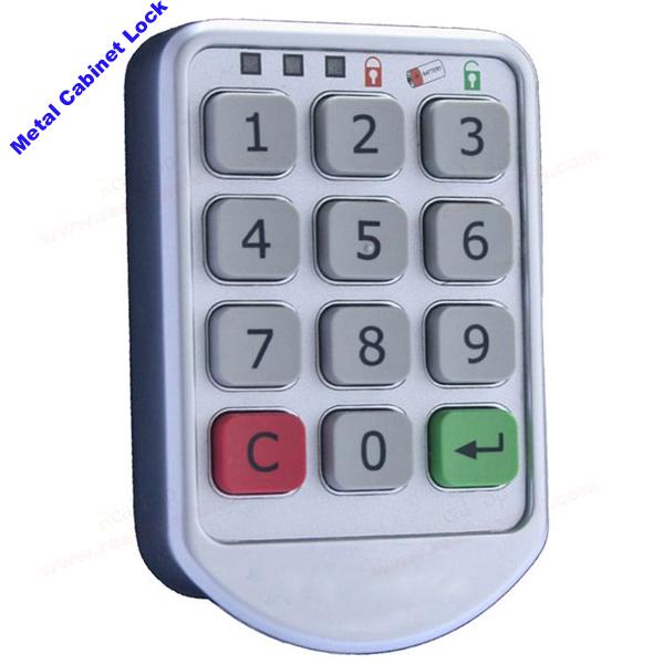 Silver Metal Locker Locks Electronic Password keypad locker Digital cabinet lock for office hotel home swimming pool wholesale