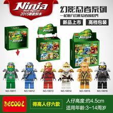 Decool 10011-10016 Spinjitzu Master Ninja Figure Bricks Building Block Minifigue Toys Kid Gift Best Toys