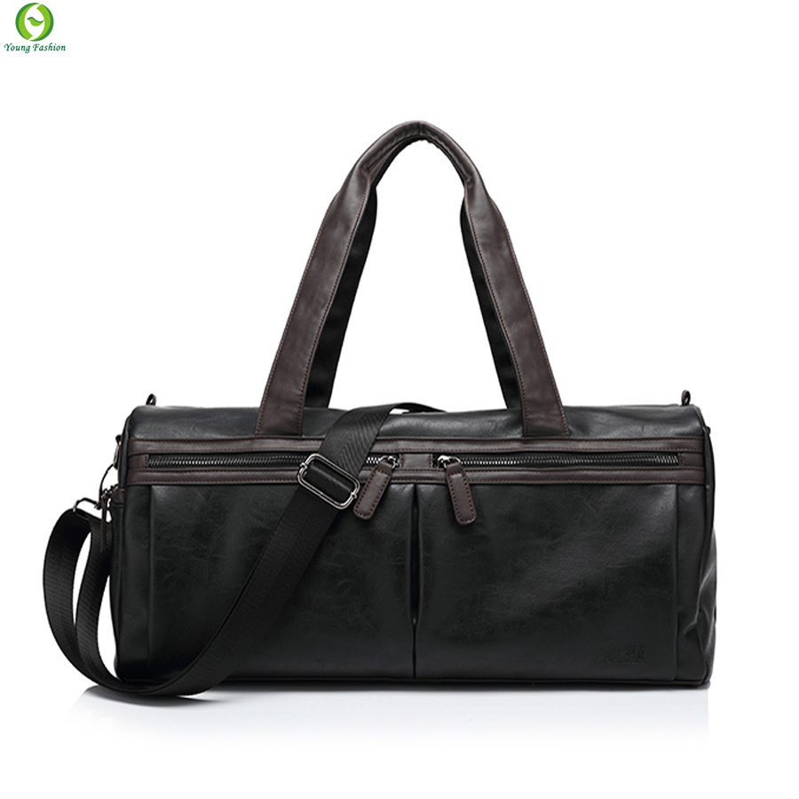 Men Bags Multifunction Men Genuine PU Leather Travel Bags Man Outdoor Tote Bag For Business Man Business Luggage bag 2016 New(China (Mainland))