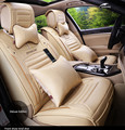 Four Seasons Leather Car Seat covers Full Set for General 5 seat car Use VW MG