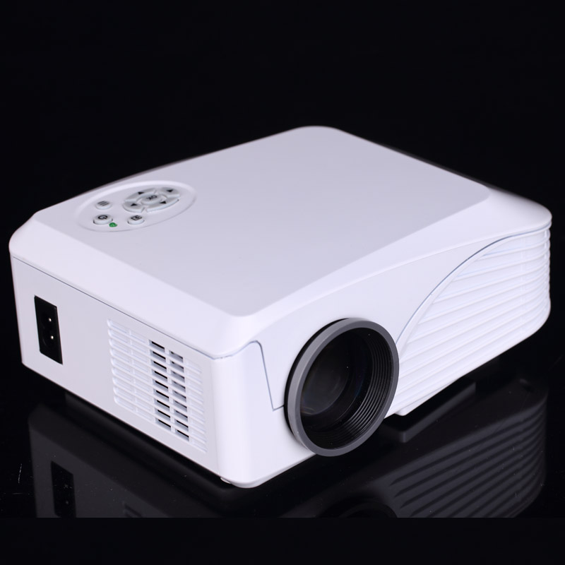 Build in wifi android 4 4 portable led projector home for Top rated pocket projectors