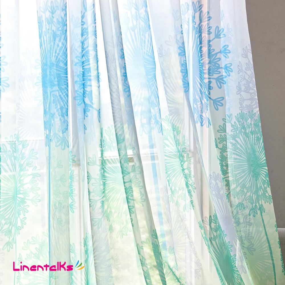Bleu sheer rideaux promotion achetez des bleu sheer for Taille rideau fenetre