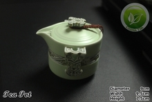 9pcs Rare China Song Ding Kiln Porcelain Teaset Ding Yao Sky Cyan Teapot Justice Cup 6