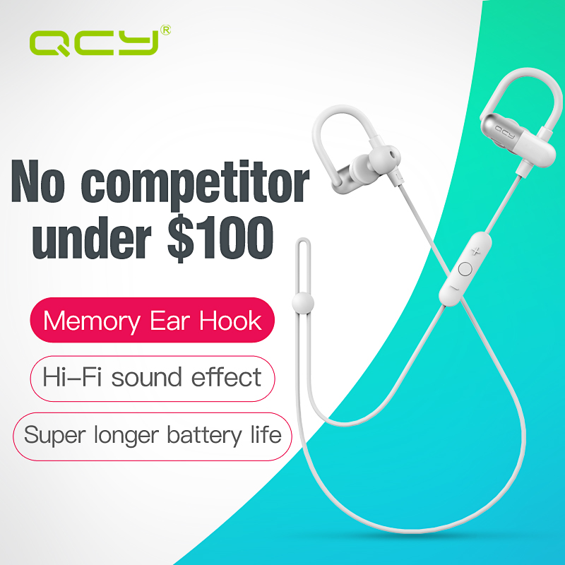 QCY limited edition sport headphones bluetooth V4.1 ear hook headset wireless earphones for xiaomi mi iphone samsung android(China (Mainland))