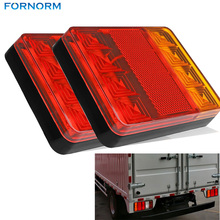 2Pcs 8 LEDS Car Truck Rear Tail Light Warning Lights Rear Lamps Waterproof Tailights Rear Parts for Trailer Truck Boat DC 12V(China (Mainland))