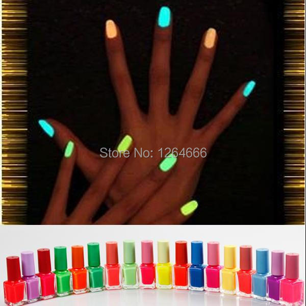 Fashion 2014 fluorescent polish nail oil glow in the dark, magnetic neon luminous art Polish professional products(China (Mainland))