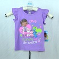 Fashion baby doc mcstuffins clothes for girls t shirt kids clothes baby girls tops kid t