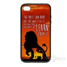 For iphone 4/4s 5/5s 5c SE 6/6s plus ipod touch 4/5/6 back skins mobile cellphone cases cover Lion King Learn Simba Mufasa Cool