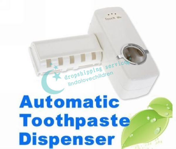 New Hands Free Automatic Toothpaste Tooth Paste Dispenser Tooth brush Holder sets toothbrush Family sets 2016 New(China (Mainland))