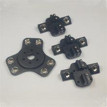 Reprap Delta Rostock Kossel k800 todo metal aluminio negro color anodizado magnetica efector + carro kit para impresora 3d DIY
