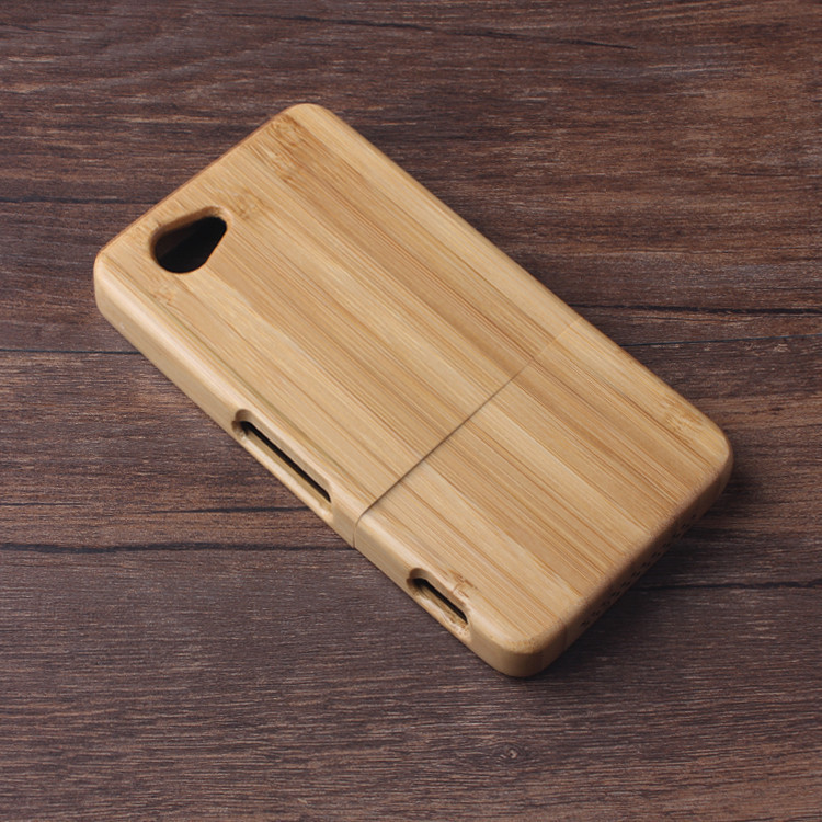 1 Z1mini Case Genuine Wooden Wood Bamboo Hard Back Skin Cover Sony Xperia Z1 Compact / mini/ M51W ,Fast Ship