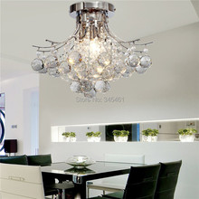 2pcs Chrome Finish Crystal Chandelier with 3 lights Crystal Flush Mount Lights for Living Room, Bedroom, Dining Room, Study Room(China (Mainland))