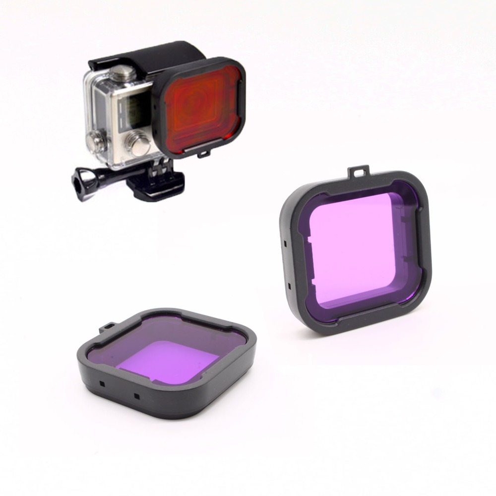 Gopro Accessories Dive Filter Purple Underwater Diving Lens Filtro for GoPro Hero 3 3+ 4 SJ4000(China (Mainland))