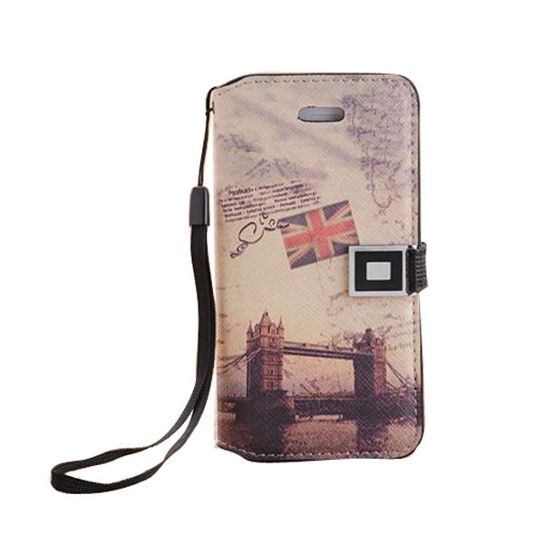 Здесь можно купить  10pcs High quality Retro PU Leather Case Flip Case for iPhone 5 5S European Eiffel Tower London Bridge Patterns Cases  IP-18-2  Телефоны и Телекоммуникации
