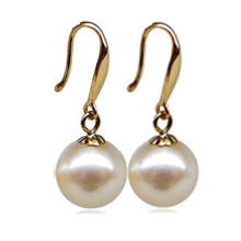 DAIMI 925 Sterling Silver With lucky Nice Freshwater Pearl Drop earrings,  High Quality,  Buy Guarantee Earrings!  [Relax](China (Mainland))