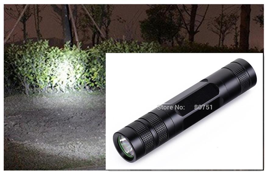 Super bright 3patterns of small flashlight black Linternas Cree Q5 tactical flashlight Lanterna1200 lm 18650electric bikes torch(China (Mainland))
