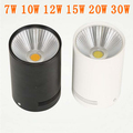 Surface Mounted COB LED Downlight 7W 10W 15W 20W 30W ceiling Lamp Shell White or Black