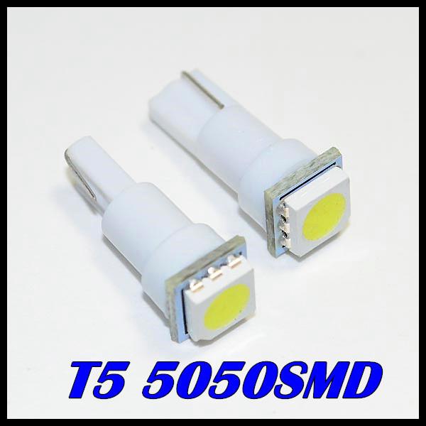 Гаджет  Wholesale 100 X T5 5050 1 SMD 74 Led bulb Wedge Base for Dashboards Gauge bulbs Free Shipping None Автомобили и Мотоциклы