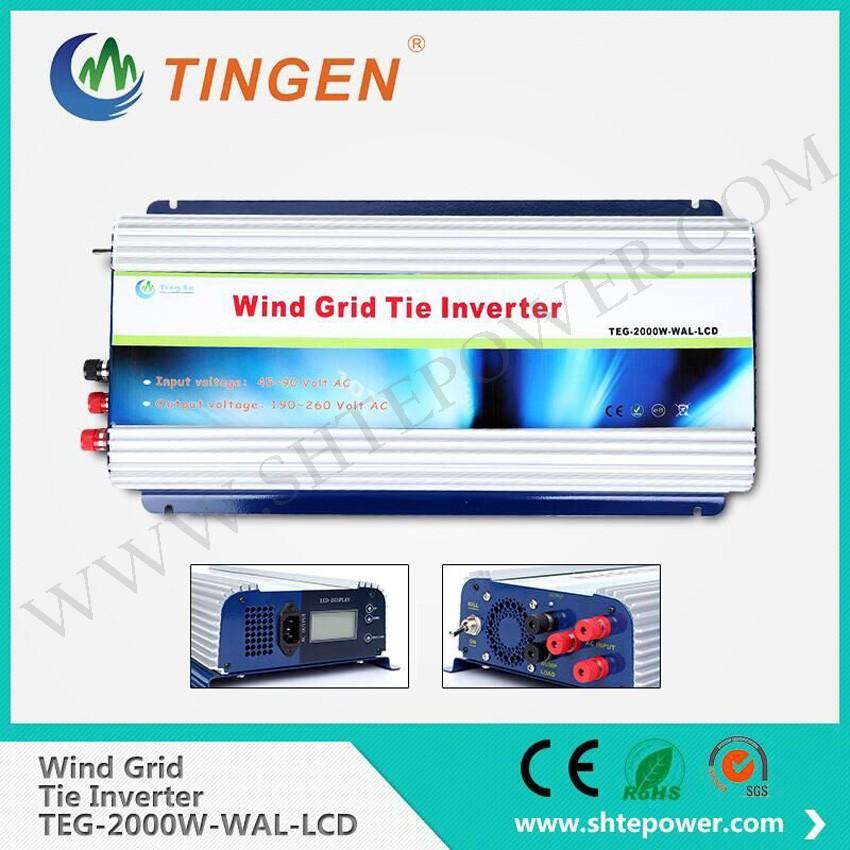 2000W Grid Tie Inverter for Wind Turbine Generator AC45V-90V to AC190V-260V(China (Mainland))