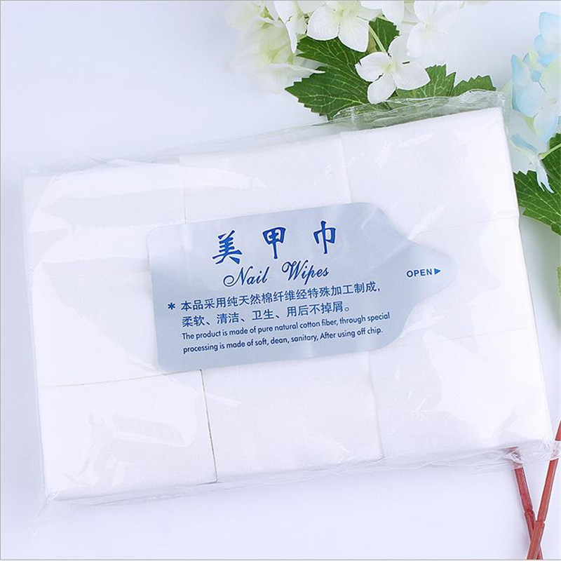 900 pcs Soft Absorbent Cosmetic Cotton Pads Nail Polish Remover Cleaner Nail Wipes Nail Remover Art Supplies Cotton Pads Paper(China (Mainland))