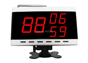 SINGCALL.Wireless servant paging system,waiter call button, table bell,display receiver, display 3 group number,