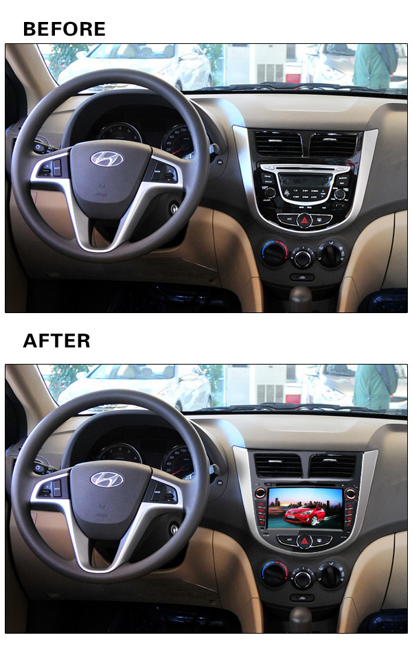 """RK3188 Quad Core 16GB ROM 7"""" Capacitive Screen Pure Android 4.4 Stereo Auto PC Car DVD GPS For Hyundai Solaris Verna Accent(China (Mainland))"""