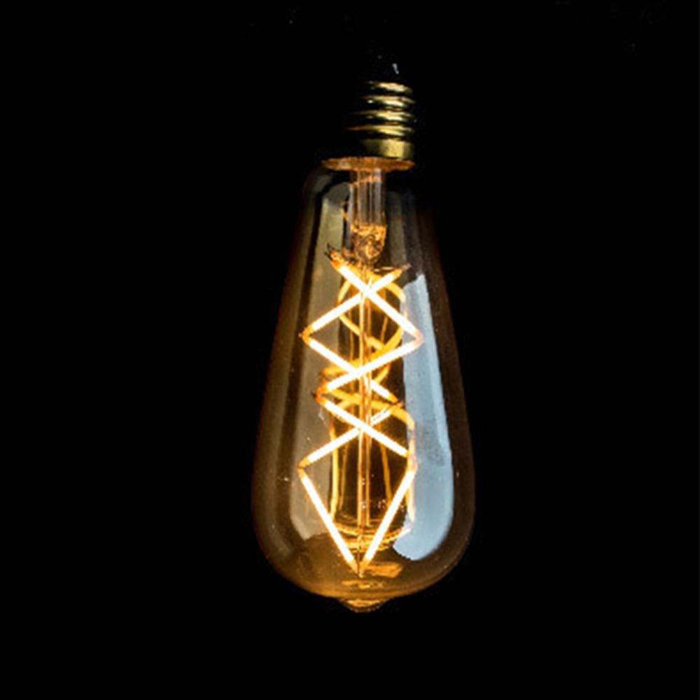 Vintage LED Filament Light Bulb,Edison ST64 Golden Tint Fish Style,Supper Warm(2200K),85-265V,E26 E27 Medium Base,Dimmable(China (Mainland))