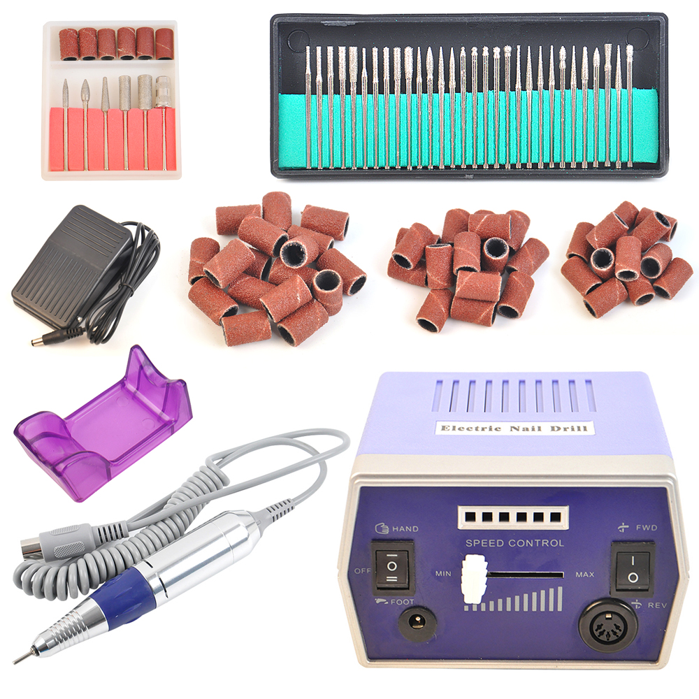 Pro Electric Nail Drill Machine 30000RPM Nail File Bits Acrylic Kit Manicure Pedicure Machine Nail Art Tools(China (Mainland))