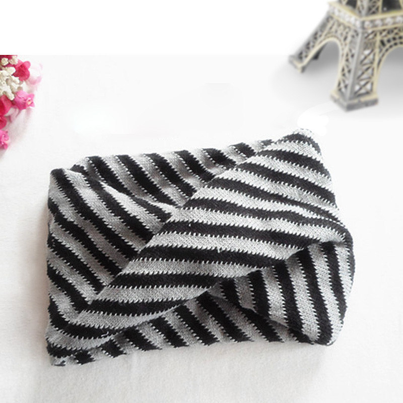 Warm New Winter Spring Autumn Children Collar With Stripe Scarf Cotton Shawl For Boys And Girls Ring Child Neck Scarves