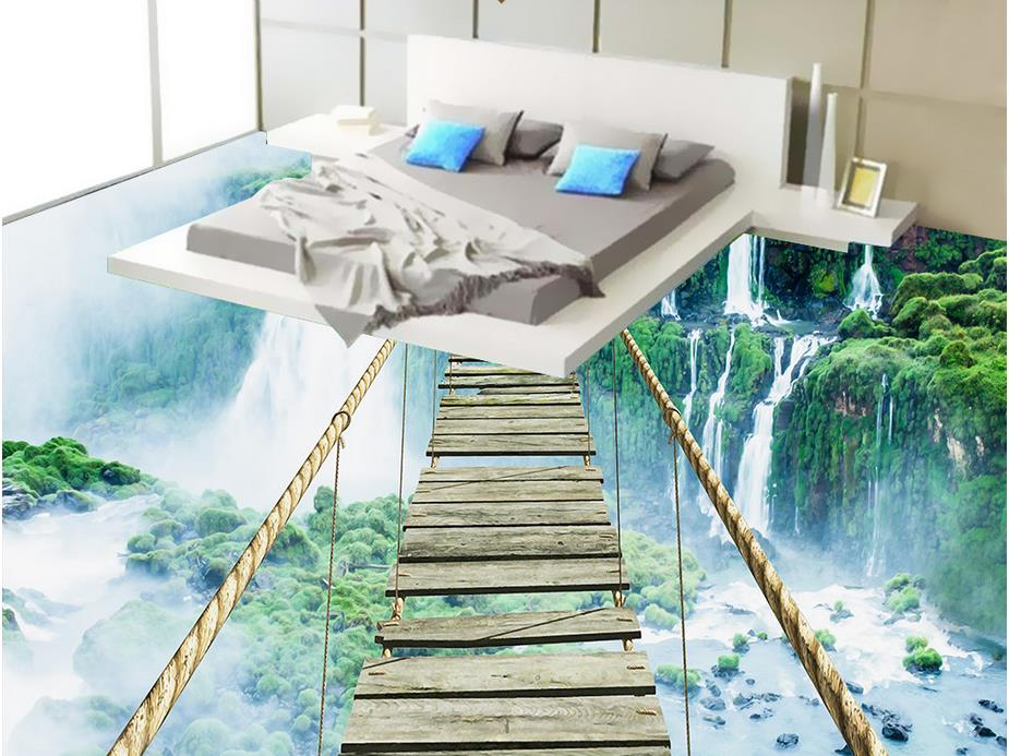 Custom 3d wallpaper bedroom mural roll 3d floor self for Bathroom floor mural