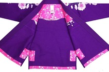 Top Quality Women Brazilian SUNRISE Cherry Blossoms Jiu Jitsu Gi Bjj Gi Classic judo clothing Black white Purple kung fu uniform(China (Mainland))