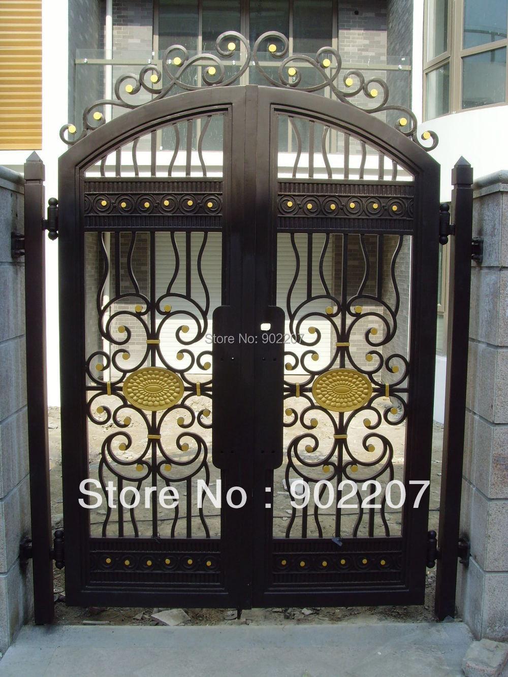 Entrance iron gates promotion shop for promotional