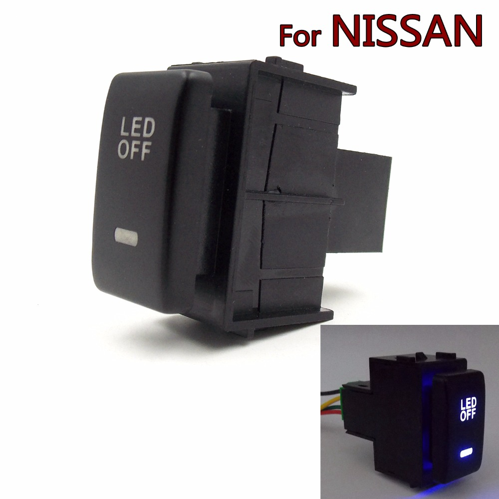 Special Dedicated 12V Car Fog Light Switch Daytime Running Lights Switch Use for NISSAN,qashqai,juke,tiida,almera,x-trail(China (Mainland))